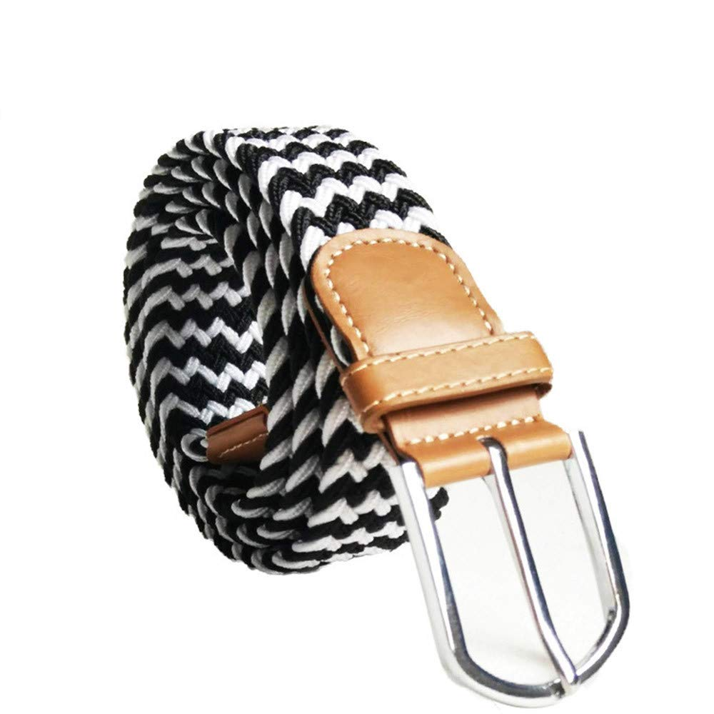 Clearance Belt!Mens Womens Waist Leather Canvas Elastic Stretch Pin Buckle