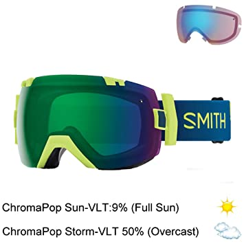 84107e8baa Smith IL7CPSRES18 Unisex Acid Resin Frame Green   Blue Mirror Lens Sports  Snow Goggles