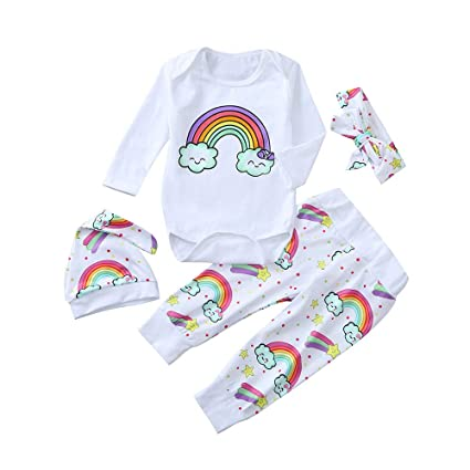 Chandal Bebe Disfraces Halloween Bebe Bebé Recién Nacido Niña Chico Carta Rainbow Mamelucos Mono Traje Pantalones