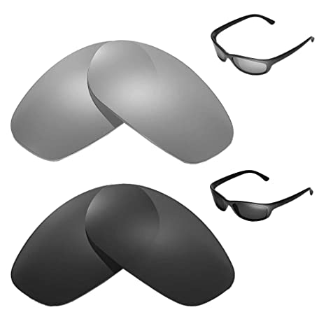 1b6507f91b4a6 Amazon.com  Walleva Polarized Titanium + Black Replacement Lenses for Ray-Ban  RB4115  Sports   Outdoors