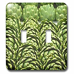 Danita Delimont - Markets - Rows of green artichokes, Vegetables - LI11 JMI0001 - Janis Miglavs - Light Switch Covers - double toggle switch (lsp_83265_2)
