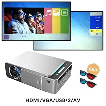 HD T6 Full HD Led Proyector 4k 3500 lúmenes HDMI USB 1080p ...