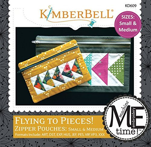 - Kimberbell Flying to Pieces! Zipper Pouches: Small & Medium Machine Embroidery Design CD KD609