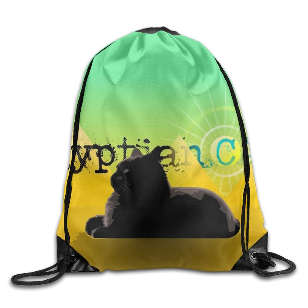 Egyptian Cat Drawstring Backpack Rucksack Shoulder Bags Training Gym Sack For Man And Women