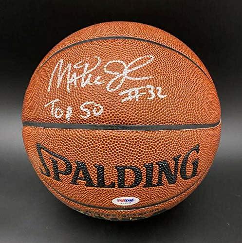 Magic Johnson SIGNED Spalding I/O NBA Basketball HOF Lakers PSA/DNA AUTOGRAPHED - Autographed Basketballs