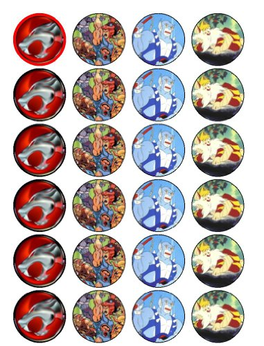 24 Thundercats Cupcake Wafer Toppers ()