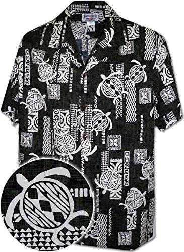 Pacific Legend Polynesian Honu Mens Hawaiian Shirt