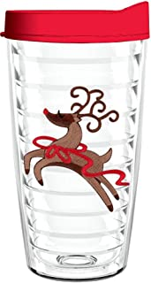 product image for Smile Drinkware USA-WHIMSICAL REINDEER 16oz Tritan Insulated Tumbler With Lid and Straw