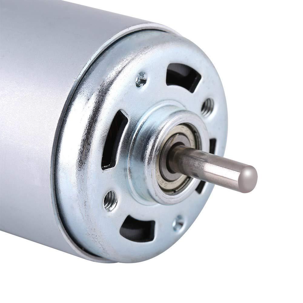 Delaman 12V 100W Round Shaft Alta Coppia Motore Elettrico Coppia Elevata min 12000r Micro DC Motor