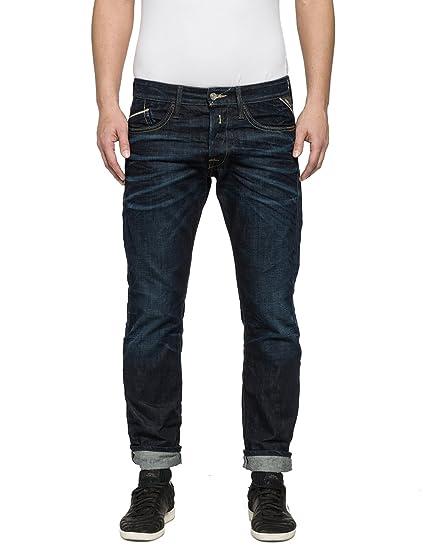 888bb8c0 Replay Men's Waitom Jeans, Blau (Blue Denim 7), W/32 L