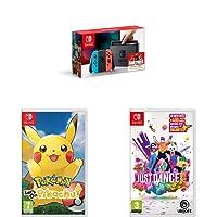 Nintendo Switch + Pokémon : Let's Go Pikachu + Just Dance 2019