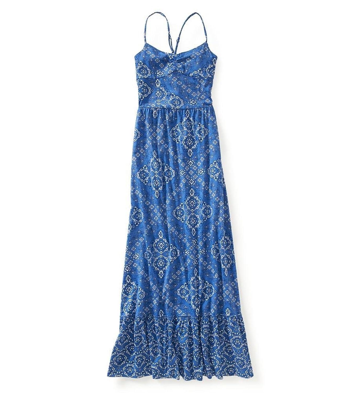 Aeropostale Womens Pattern Print Maxi Dress