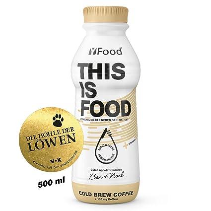 YFood Coffee, Batido Sustitutivo | Sustitutivo de comida sin lactosa ni gluten | 34g de proteínas, 26 vitaminas y minerales | 25% de las calorías ...