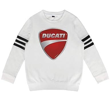 1ae664ea78 Amazon.com: Kids Ducati-Motorcycle-Logo- Kids Long Sleeve T-Shirt ...