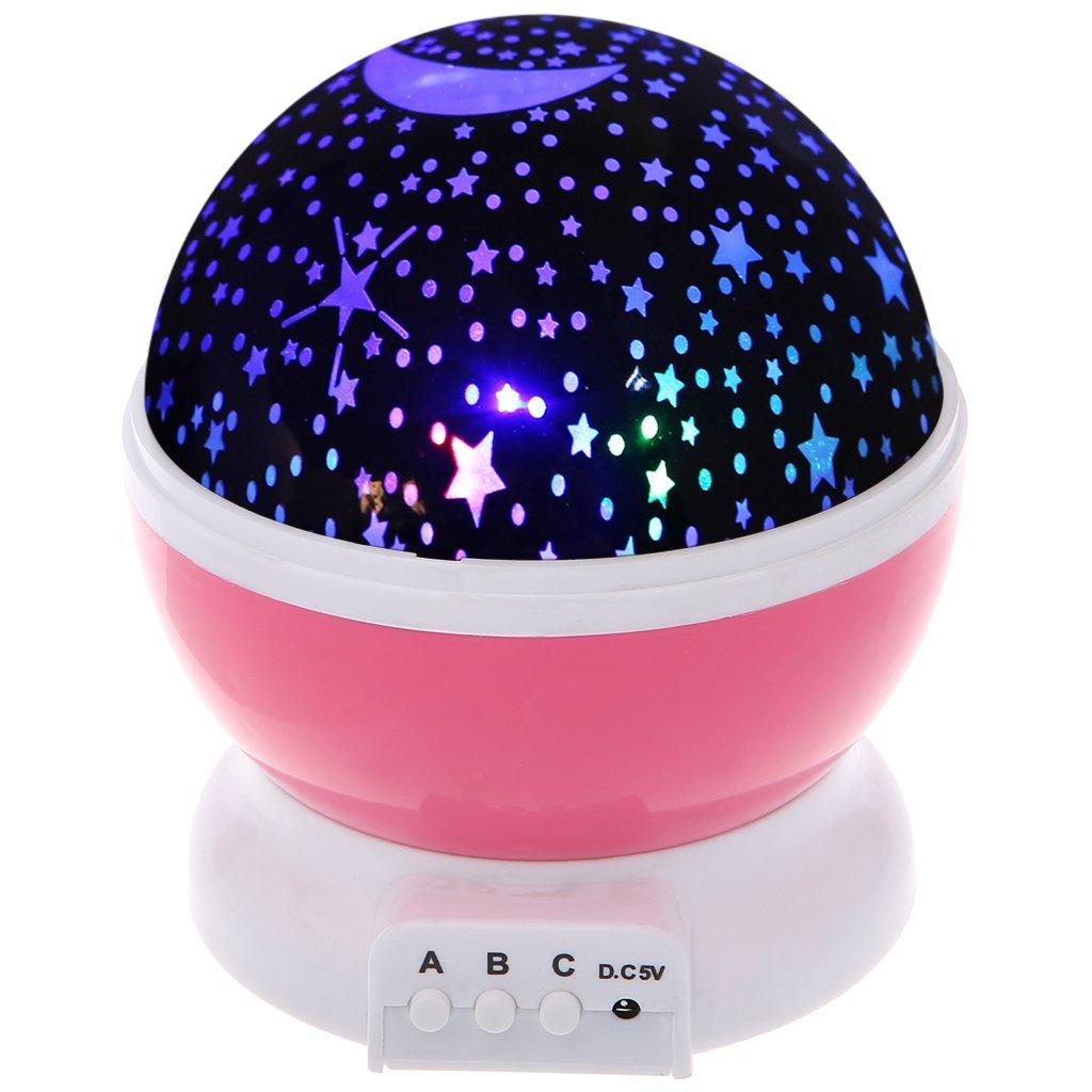 Hibyeスターナイトライト、プロジェクタStarry Skyのノベルティテーブルランプ子供キッズ寝室USBケーブル ピンク Hi1 B0796R6TNP 20781  ピンク