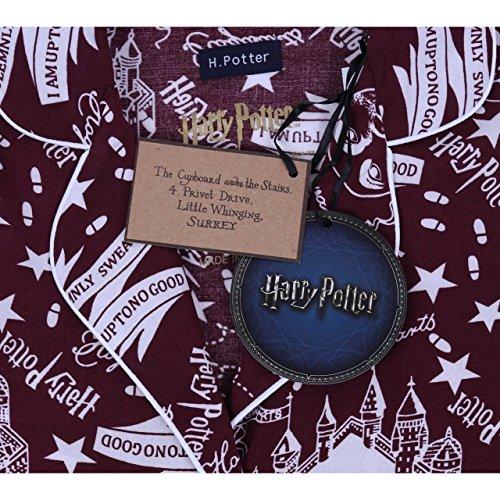 Harry Potter Die Karte des Rumtreibers Hogwarts bedruckter Damen Pyjama 2-tlg.