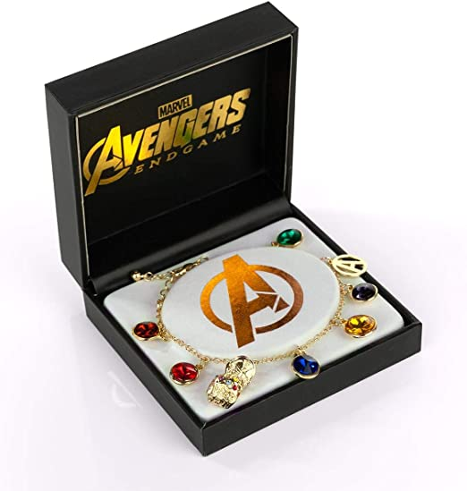 Marvel Avengers Infinty Stones Medallion Thanos necklace Infinty war Endgame