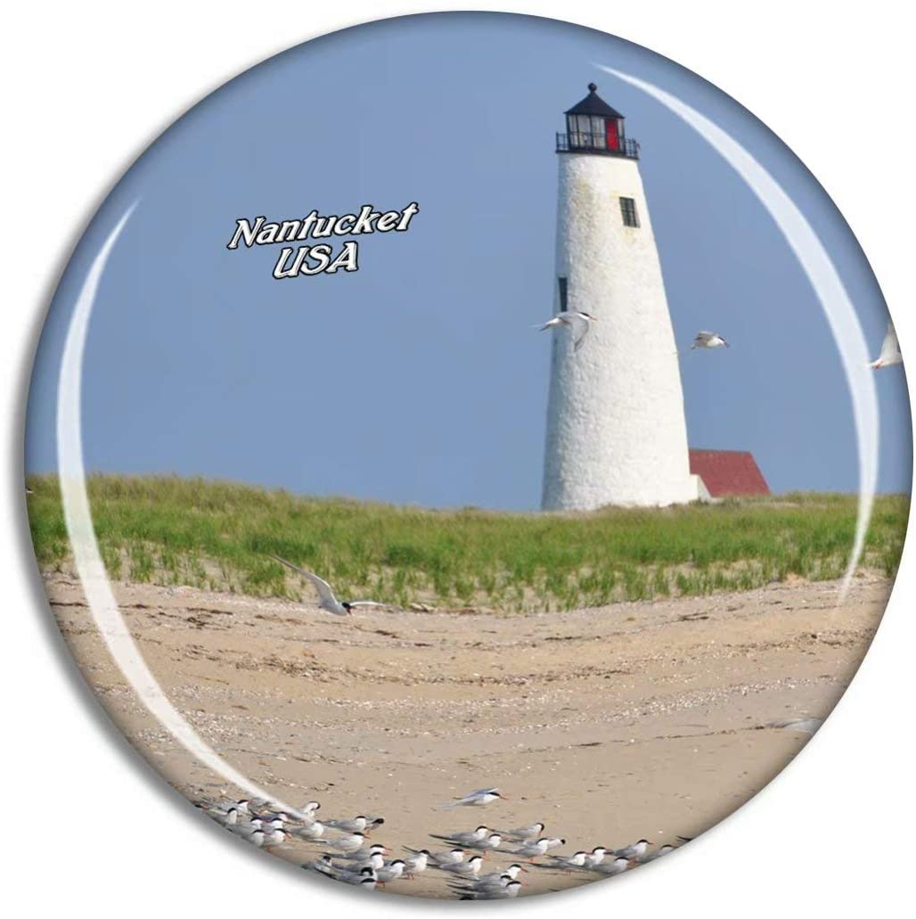 Weekino USA America Nantucket Great Point Lighthouse Fridge Magnet Travel Souvenir City Collection 3D Crystal Glass Gift Strong Refrigerator Sticker