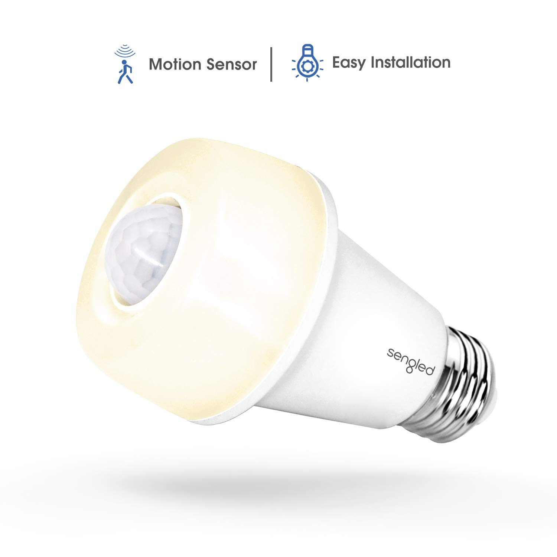 Sengled Smartsense LED Light Bulb with Motion Sensor, A19 Smart LED Night  Light Soft White 2700K, E26 Base 60W Equivalent