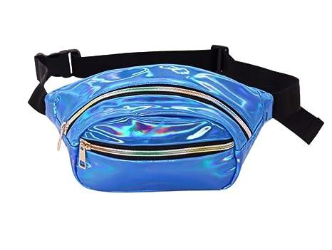 3370f71b790e Amazon.com   JD Million shop Pack Women Laser Bum Bag Travel Beach ...