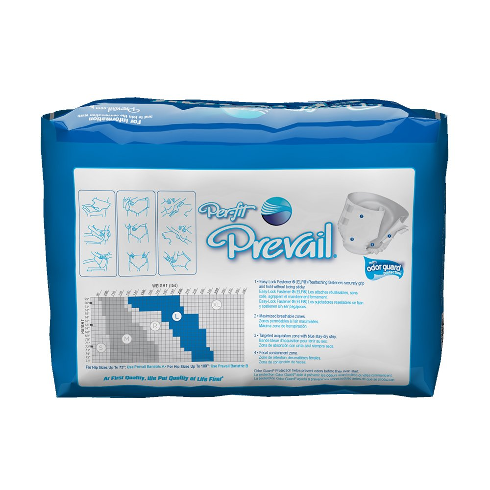 Amazon.com: Prevail Per-Fit Maximum Plus Absorbency Incontinence Briefs Regular 20 Count Breathable Rapid Absorption Discreet Comfort Fit Adult Diapers: ...
