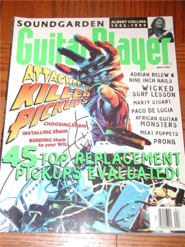 April 1994 Guitar Player Magazine Back Issue SOUNDGARDEN NIN ADRIAN BELEW PRONG