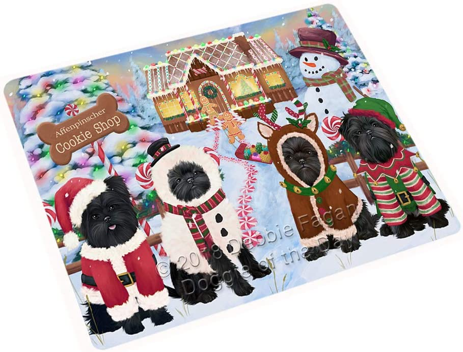 "Holiday Gingerbread Cookie Shop Affenpinschers Dog Large Refrigerator/Dishwasher Magnet RMAG98802 (18"" x 24"")"