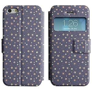 LEOCASE círculos lindos Funda Carcasa Cuero Tapa Case Para Apple iPhone 5 / 5S No.1004084