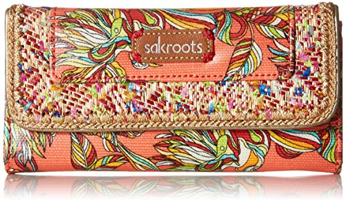 sakroots-artist-circle-trifold-wallet-coral-treehouse-one-size