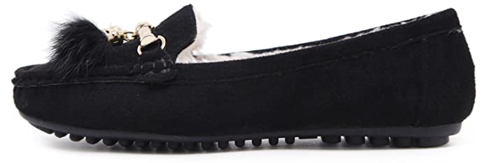 5d4472155b055 Amazon.com   Women's Flats Loafer Slip-On - Plush Suede Shoes with Gold  Tassels Pendant   Shoes