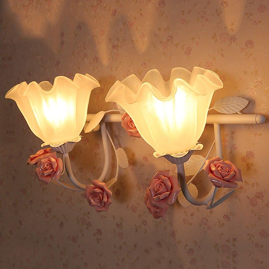 MLMHLMR Wandlampe Hauptschlafzimmergarten Nachttischlampe Treppenhaus Wandleuchte Kinderzimmer Einzelkopf Doppelkopf Spiegelscheinwerfer Wandleuchte