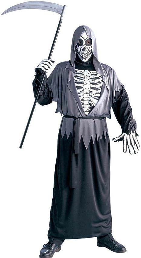 Traje Halloween ángel de la Muerte Disfraz Esqueleto Muerte L 52 ...