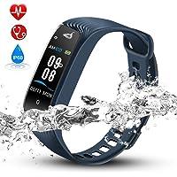 Hommie Bracelet Intelligent Tracker d'Activit¨¦ avec Cardiofr¨¦quencem¨¨tre Podom¨¨tre Calories Sommeil, Montre Connect¨¦e Bluetooth 4.0 Etanche IPX7 - Compatible avec iOS 8.0 ou Android 4.3-W04