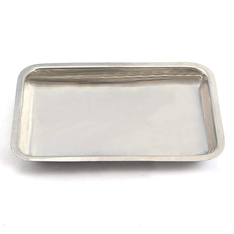 Laja las importaciones Vanity organizador bandeja para toallas de mano de, maquillaje, productos de belleza - acero inoxidable cepillado: Amazon.es: Hogar