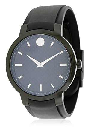 5ef11f43e32d Image Unavailable. Image not available for. Color  Movado Men s 0606849  Analog Display Swiss Quartz Black Watch