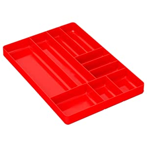 Ernst Manufacturing Organizer Tray, 10-Compartments, Red