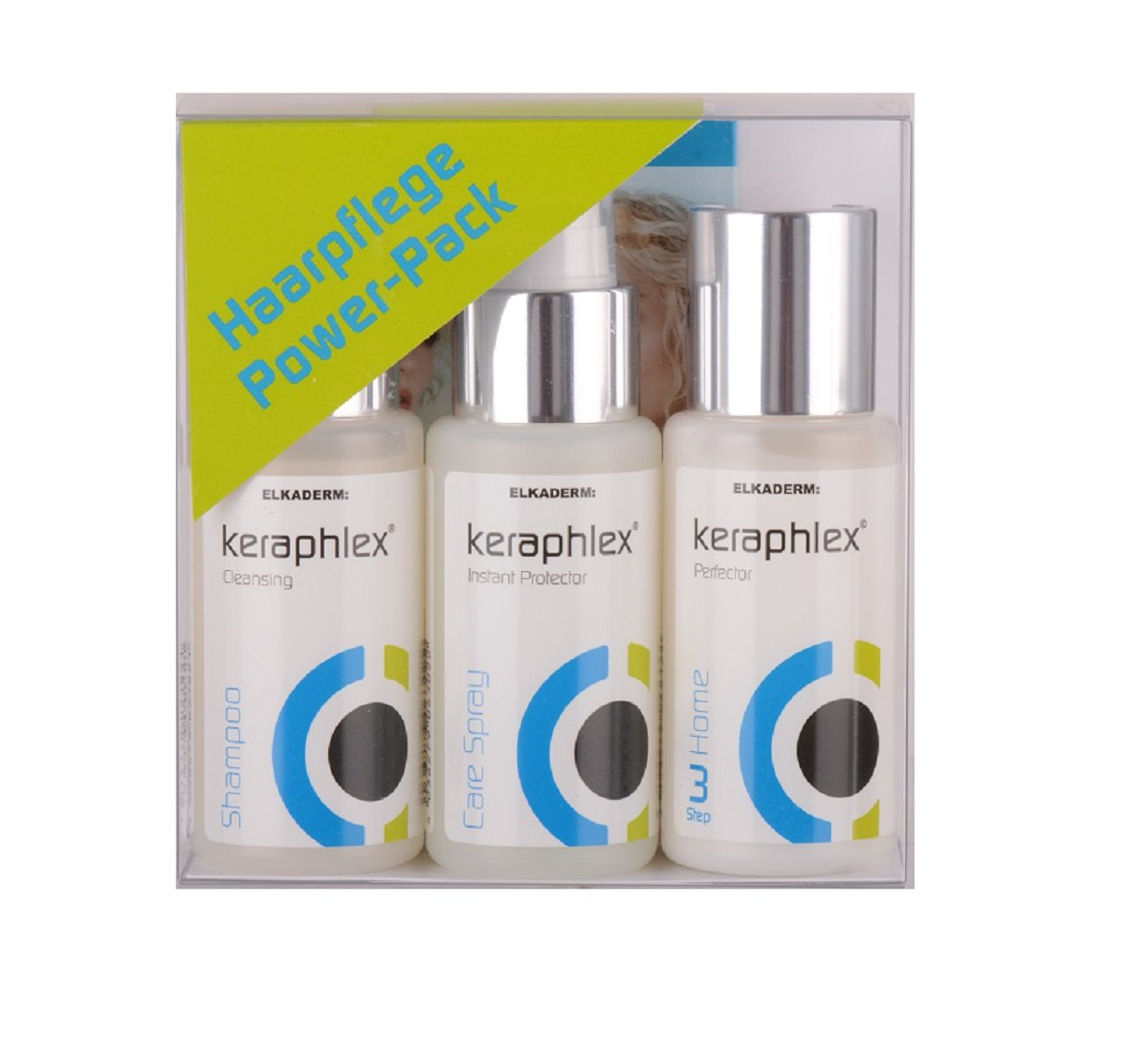 Elkaderm Keraphlex Power Pack - Set di prodotti per capelli, 150 ml 96325453