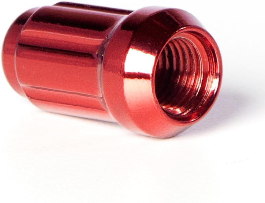 20pc + Tool Circuit Performance Spline Drive Tuner Acorn Lug Nuts Black 12x1.25 Forged Steel