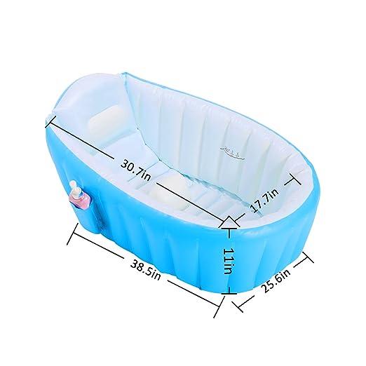 Amazon.com: Biubee - Bañera hinchable para bebé y 8 bolas ...