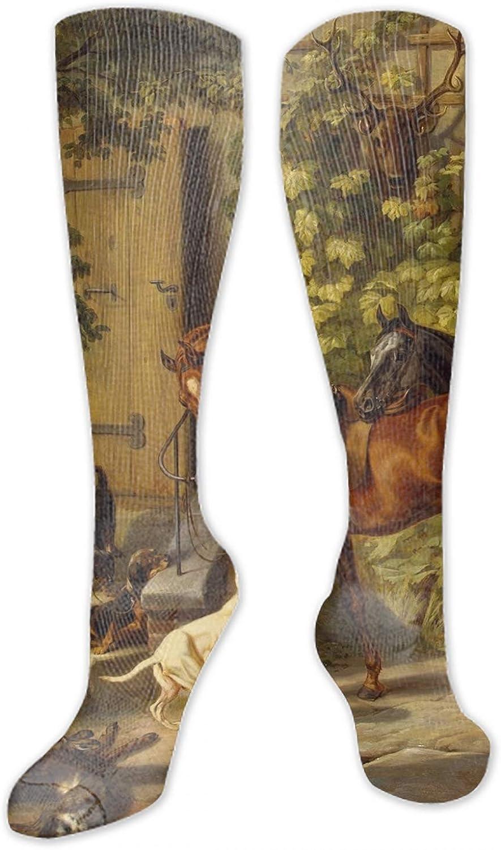 Goat Family Digital Painting High Socks Crazy Socks Novelty Socks Unisex