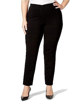 a3d5621f82899 Alfani Plus Size Flocked Hollywood Skinny Pants (16W) at Amazon ...