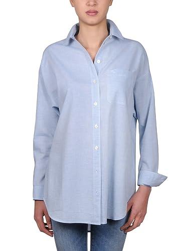 Burberry Mujer 4012974 Azul Claro Algodon Camisa