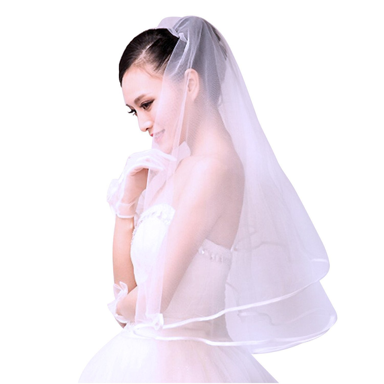 Discoball® Wedding Ribbon Bridal Veil Elegant Bride Woman Party ...