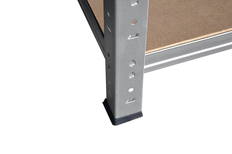Lagerregal Schwerlastregal 200 x 110 x 40 cm mit 6 B/öden Stecksystem aus Metall verzinkt: Metallregal geeignet als Kellerregal Archivregal Ordnerregal Werkstattregal
