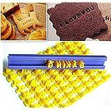 Ainest Alphabet Letter Number Cookie Press Stamp Embosser Cutter Fondant Mould Cake HUS