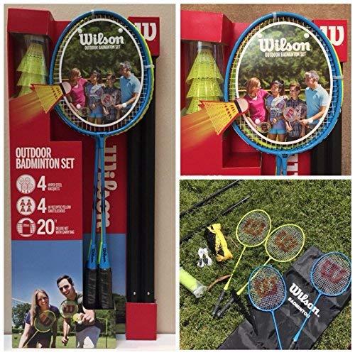 Wilson Badminton 4pc Set - Blye Blue
