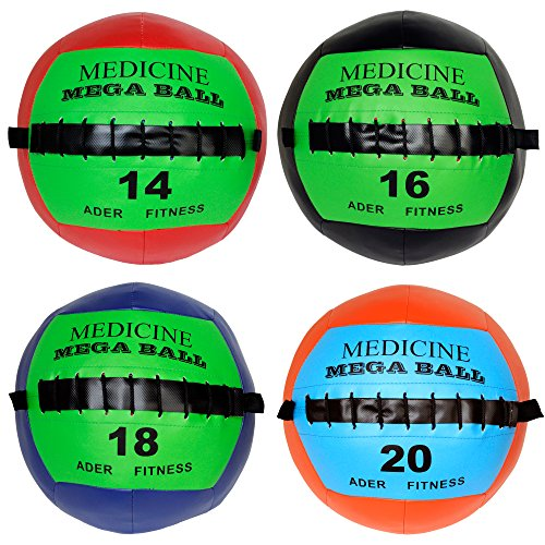 Soft Mega Medicine Ball Set- 14, 16, 18, 20 Lb by Ader Sporting Goods