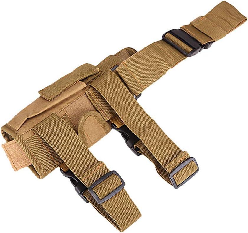Ketamyy Tornado Táctical Funda Pernera Militar Cinturón Ajustable Airsoft Pistola Funda de Muslo Mano Derecha Caqui