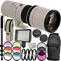 Canon EF 400mm f/5.6L USM Lens 11PC Accessory Bundle – Includes Manufacturer Accessories + 3PC Filter Kit (UV + CPL + FLD) + MORE – International Version (No Warranty)
