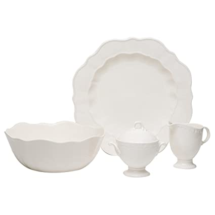 Red Vanilla FQ900-005 Country Estate 5-Piece Serveware Set White  sc 1 st  Amazon.com & Amazon.com: Red Vanilla FQ900-005 Country Estate 5-Piece Serveware ...